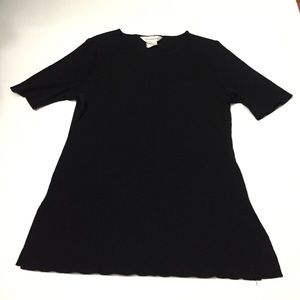 Misook Tops - Misook black acrylic ribbed top size large